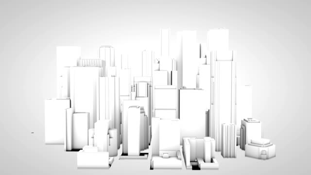 HD Constructing 3d skyscrapers High Rise Buildings City Skyline video