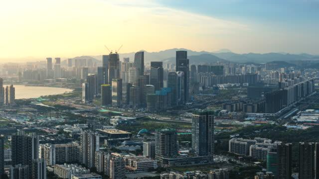 中国・深センのqianhai自由貿易区の建設と開発 - 広東省点の映像素材/bロール