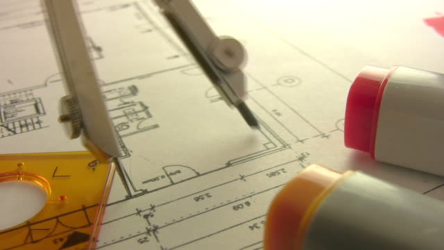 Construction and technical drawing video