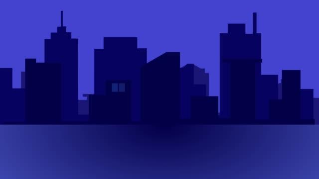 vídeos y material grabado en eventos de stock de edificio de construcción - vista nocturna y concepto de vector de la ciudad. - villa asentamiento humano