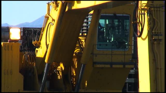 (HD1080i) Construction Crane Cab Closeup video