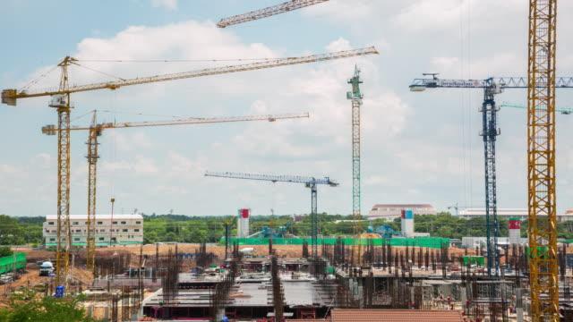 建設用クレーン - クレーン点の映像素材/bロール