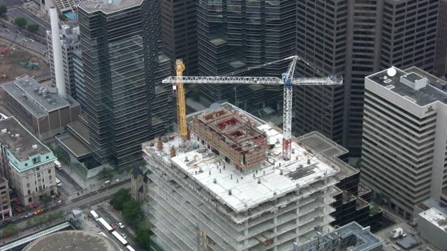 Construction cranes. Realtime. video