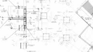 istock Construction drawings go in perspective. Loop 457336374