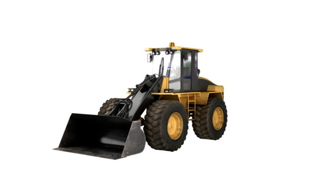 Construction Equipment bulldozer Loader 1-6 equipment spin.  construction machinery stock videos & royalty-free footage