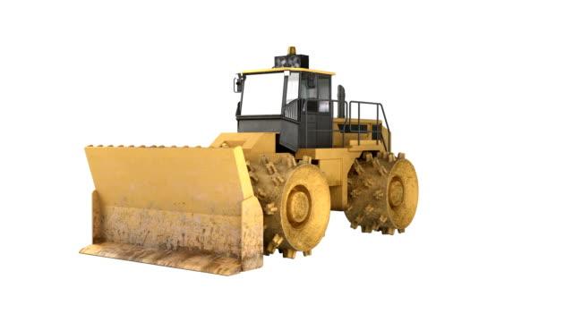 Bulldozer de matériel de construction - Vidéo