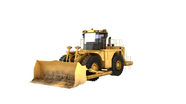 Construction Equipment bulldozer 1-6 equipment spin.  construction machinery stock videos & royalty-free footage