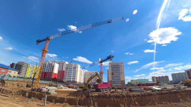 Construction house, installation foundation.