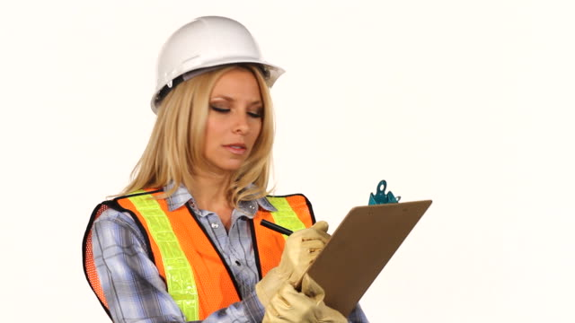 Construction Inspector with Clipboard video