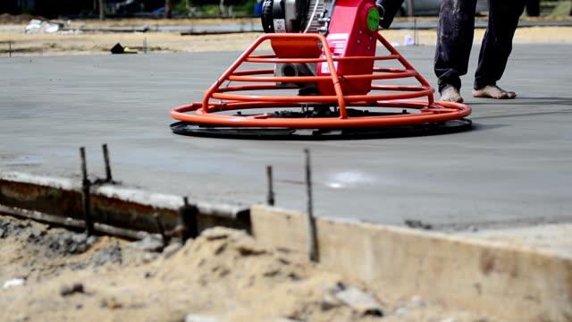 Construction: New Cement Floor Smoothening video