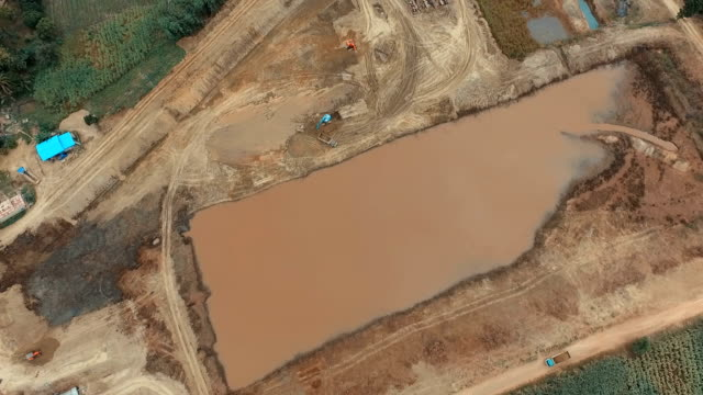Construction of dams to store water for agriculture. video