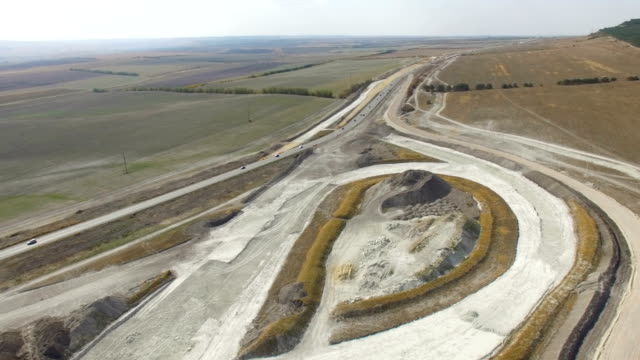 AERIAL: Construction of new highways in countryside video