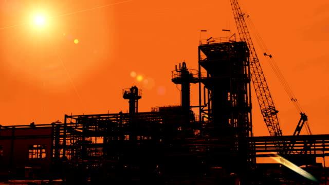 Construction of petroleum factory video