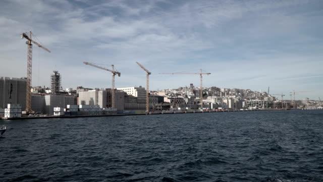 Construction of The Galata Port and Tower Cranes at Karakoy