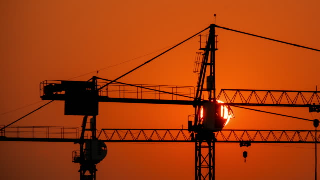 Construction Site at sunset video
