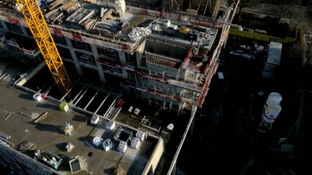 vidéos et rushes de construction du site - drone shot #3 - chantier