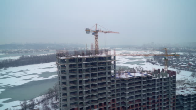 Construction site outdoors video