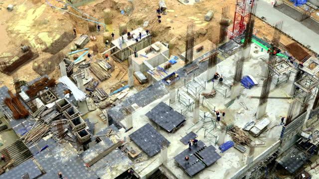 Construction Site Time Lapse video