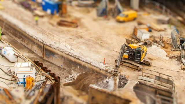Construction site timelapse video