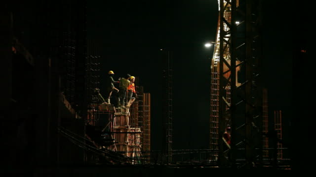 Construction Site Construction Site at night, High Definition 1920x1080 Video Format crane construction machinery stock videos & royalty-free footage
