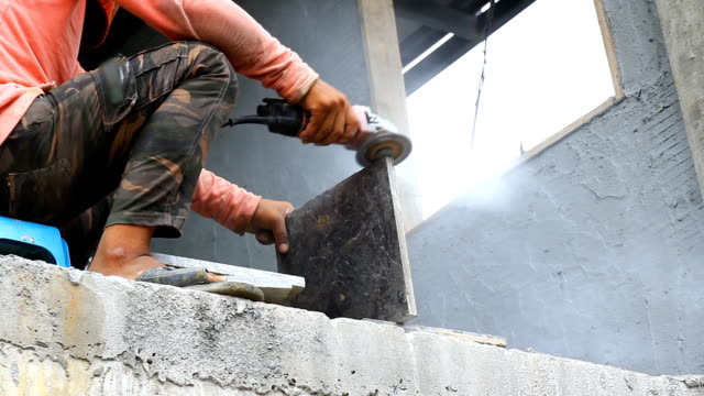 Construction site workers. video