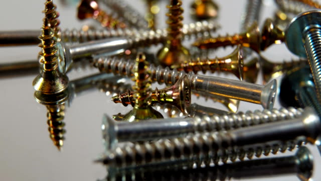 Construction tools, fasteners, nails and screws video