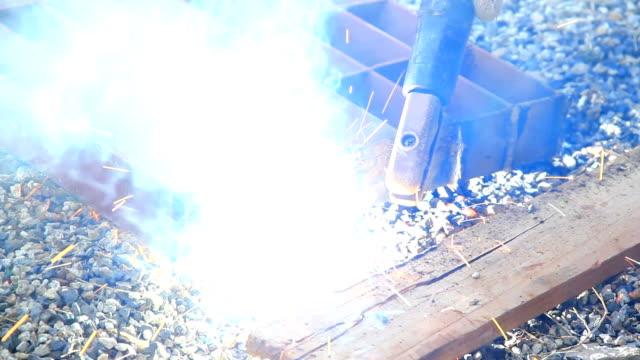 Construction Worker Welding video