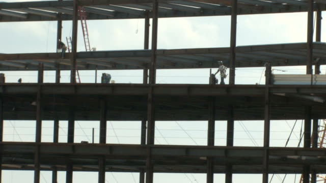 Construction Workers on Steel video