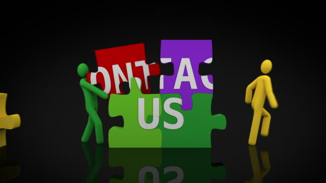 Contact us. Black background. video