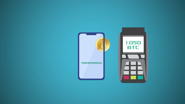 Contactless payment with credit card and pos terminal. Contactless Payment Methods animation background. NFC technology. Pos and contactless wireless technology. Crypto payment. Mobile payment ,online shopping concept. video