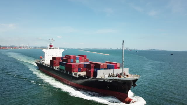 Container Cargo ship in ocean for Export Shipping