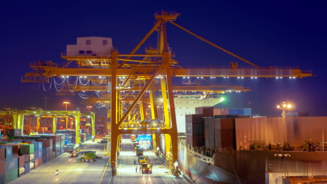 Container Port Container Port. commercial dock stock videos & royalty-free footage