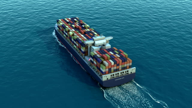 Container ship for transport video