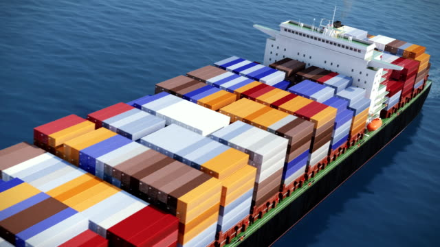 Container ship video