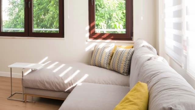 Contemporary elegant luxury living room Contemporary elegant luxury living room lounge chair stock videos & royalty-free footage