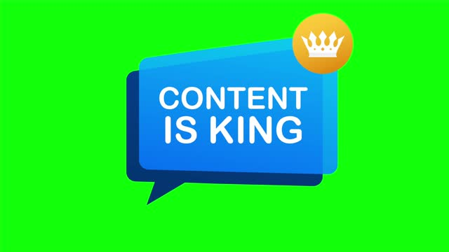 Content is king, flat icon, badge on white background. illustration.