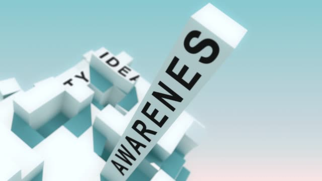 Content marketing Communities words animated with cubes