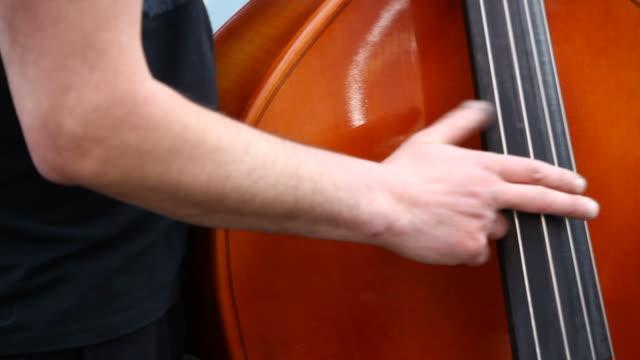 contrabass  player Full HD video video