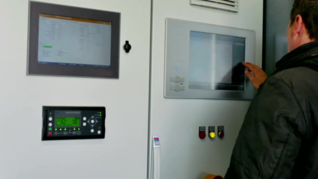 Control panel of  bio gas thermal power plant video
