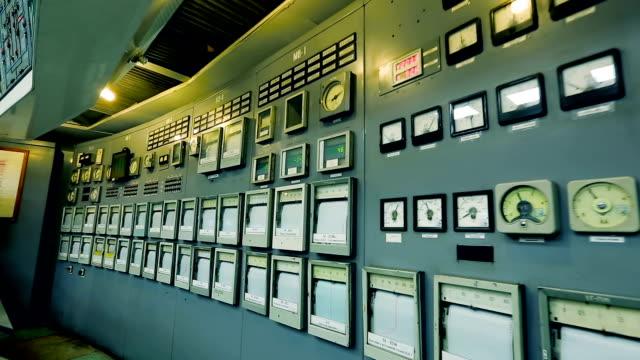 Bидео Control room of power plant