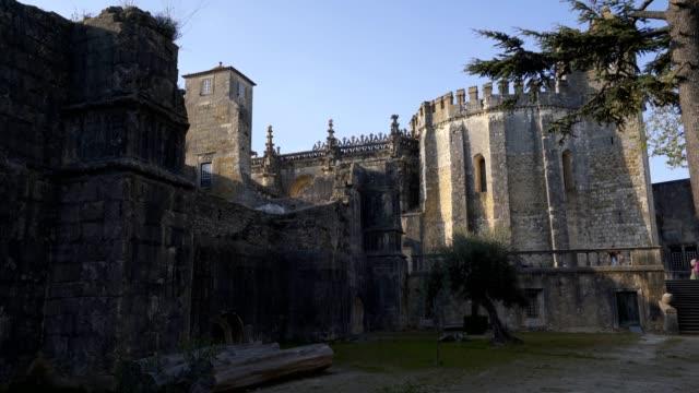 convent of christ convent in tomar, portugal - jesus christ filmów i materiałów b-roll