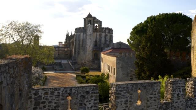 klasztor chrystusa w tomar, portugalia - jesus christ filmów i materiałów b-roll