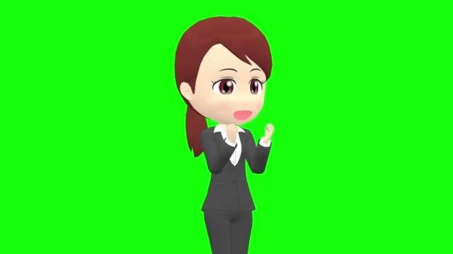 stockvideo's en b-roll-footage met [gespreks emoties a] vrouw kostuum paardenstaart schuine hoek bovenlichaam - dameskostuum