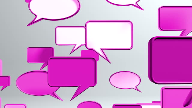 conversation icons red conversation icons red can use for communication and expression concept video production, TV Broadcasting, web animation etc. speech bubble stock videos & royalty-free footage