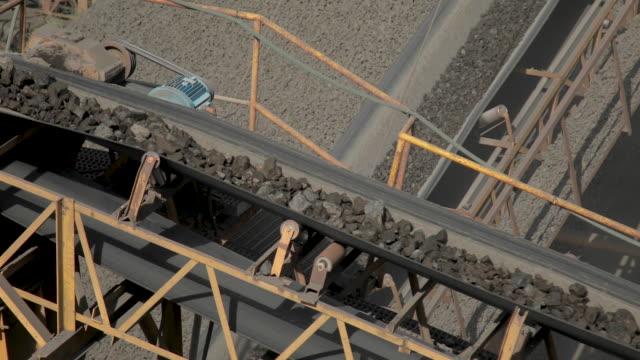 conveyor belt mine line rock transport video