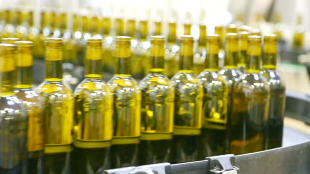 Conveyor line for bottling wine video