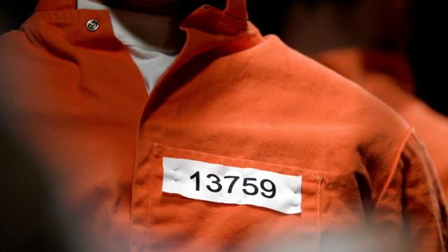 condannato ascoltando avvocato parlando di condizioni di scarcerazione, amnistia - prigione video stock e b–roll
