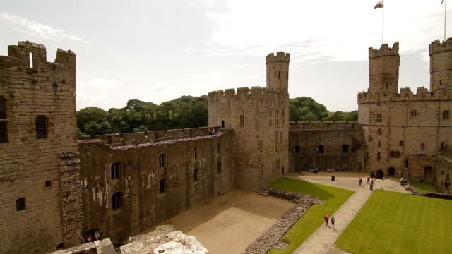 Conwy Castle - Conwy, Wales - Full Pan video