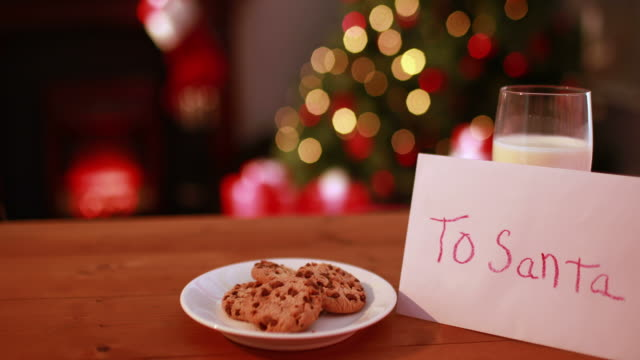 Cookies and milk left out for santa claus video