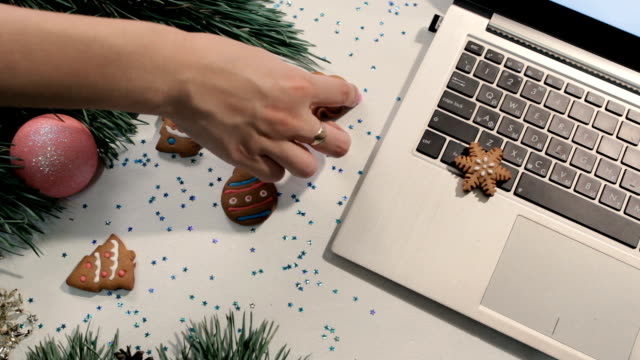 Cookies in Christmas and New Year holidays video